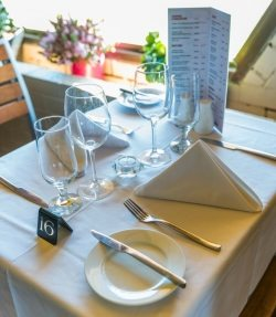 Enjoy a meal at Sails Restaurant