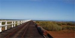 Inland view of One Mile Jetty